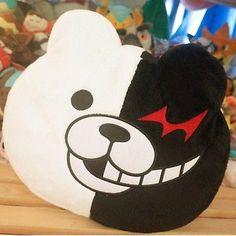 Danganronpa Monokuma Black White Bear Toy Pillow Cushion Soft Plush Doll 28cm