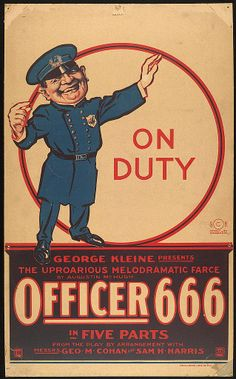 """A peculiar poster for a movie called """"Officer 666"""".  Odd."""