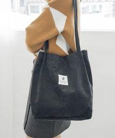 Hobba - Sztruksowa torebka zakupowa A2 - Torebki na każdą okazję