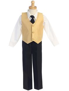 Lito Little Boys Apple Green Poly Silk Vest Bowtie Special Occasion Set 2T-7