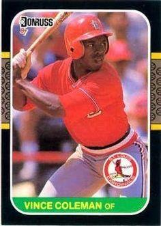 1987 Donruss #263 Vince Coleman - St. Louis Cardinals (Baseball Cards) by Donruss. $0.88. 1987 Donruss #263 Vince Coleman - St. Louis Cardinals (Baseball Cards)