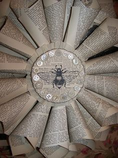 Some of my favorite things.... old book pages, nature images and vintage buttons.