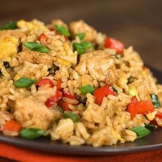 This easy chicken fried rice recipe will be even better than take out.. Easy Chicken Fried Rice Recipe from Grandmothers Kitchen.