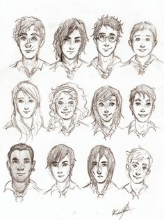 The MWPP sketchdump! (I do this everyday to break out of SFS). -Remus L., Sirius B., James P., Peter P. -Lily P., Molly W., Alice L., Frank L. -Kingsley S., Regulus B., Severus S., Arthur W.