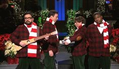 snl Christmas skits, particularly the one with Ellen as the three wise men, and Rosie O'Donnell as a choir director.  :)