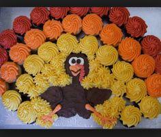 Turkey Cupcake Creation