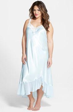 Oscar de la Renta Sleepwear 'Always a Bride' Nightgown (Plus Size) available at #Nordstrom