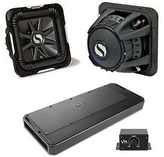 "2) KICKER S12L7 12"" 3000W Car Audio Subwoofers Subs L7 Solo Baric + VM Audio Amp"
