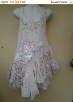 "20%OFF wedding bridal vintage bohemian gypsy tribal OAK patchwork dress/top...,smaller to 38"" bust..."