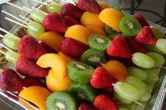 Luau food, the kids devoured the fruit last year.