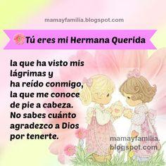 frases bonitas imagenes para mi hermana, palabras para mi querida hermanita, mamá y familia en amor