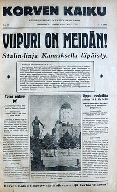 Viipuri Is Ours. where my great grandmother hailed from before the Russians took Karjala/Finland Finnish Civil War, History Of Finland, Something To Remember, Iconic Photos, Interesting History, Black And White Pictures, Historian, World War Two, Old Pictures