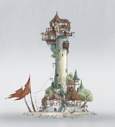 The watchtower, Li Lin on ArtStation at https://www.artstation.com/artwork/bVzRk