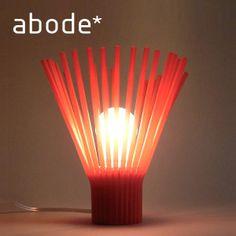 【楽天市場】abode アボード テーブルランプ レッド STRAW -Table Lamp/梅野 聡 ライトシェード・照明・ライトカバー・テーブルライト・デザイナーズ家具:YO-KO
