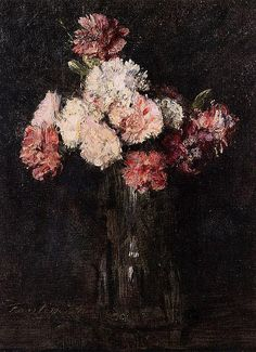 Henri Fantin-Latour by hauk sven, via Flickr ~~ I love these dark, contrasting flower-in-vase paintings!