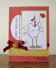 Happy Bird-day to you - Art Impressions by - Cards and Paper Crafts at Splitcoaststampers Happy Bird Day, Art Impressions Stamps, Hampton Art, Scrapbook Supplies, Digital Stamps, I Card, Cardmaking, Birthday Cards, Balloons
