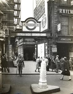 1930: a former entrance located on Craven Street to Charing Cross underground - or, as it was then, known, Strand. Courtesy of the London Transport Museum.