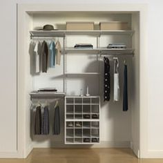 Here's another great reach-in closet design. Ladies, check out that shoe rack!