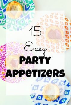 Easy party appetizers to please a crowd that anyone can make no matter your cooking level. The best way to get a party started.