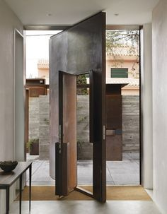 Spain Doorway Metal, Chicken Point Cabin, Tom Kundig