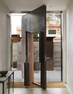 Spain Doorway Metal, Chicken Point Cabin, Tom Kundig