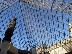 Inside the glass pyramid... Louvre, Paris
