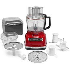 KitchenAid ExactSlice System 11 Cup Food Processor Color: Empire Red