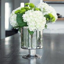Silver Ring Decor Accessories by Torre & Tagus - Silver Ring Glass Vase Pretty Flowers, White Flowers, Vases, Decorative Accessories, Glass Vase, Silver Rings, Table Decorations, Instagram, Home Decor
