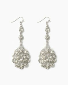 Scalloped Sparkle Earrings | Jewelry - RSVP Special Occasion | charming charlie