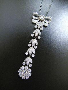 Diamant-Collier mit Altschliff-Brillanten, Belle Epoque um 1915, Platin