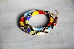Multi Color African Style Necklace by HeriniasJewelryChest on Etsy, $46.00