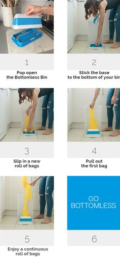 Why is replacing the trash bag after you empty the garbage SO annoying?! All that unfolding, flapping it open and securing it sometimes takes