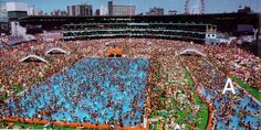 Human overpopulatin at work at a swimming pool in China  #population