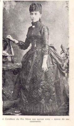 Condessa do Rio Novo; Mariana Claudina Pereira de Carvalho (aos 15 anos quando se casou )