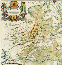 De kaart van Pijnacker uit 1634. Star Fort, Oriental, City Maps, Prehistoric, Golden Age, Genealogy, Netherlands, Holland, Vintage World Maps