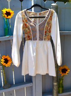 Vintage  Clothing  Dress  Woodstock  Hippie  Festival  1960s dress  Boho  Prairie  Reniassance Faire  Hipster 1970s dress  1970s  Groovy dress  Halloween  Flower Child Etsy