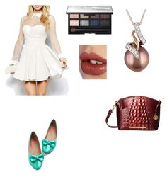 """""""Dinner date"""" by lisha30-2010 ❤ liked on Polyvore featuring Miadora, Brahmin, Charlotte Tilbury and NARS Cosmetics"""