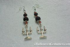 Your place to buy and sell all things handmade Orange Earrings, Silver Earrings, Drop Earrings, Halloween 2013, Halloween Costumes, Silver Candelabra, Halloween Earrings, Black Stripes, Halloween Decorations