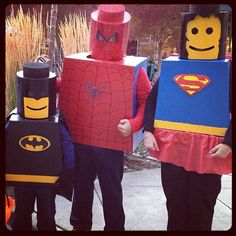 Homemade LEGO Superhero costumes!