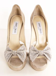 JIMMY CHOO HEELS... Sparkly bows?!? Seriously, does it get any better???!!!