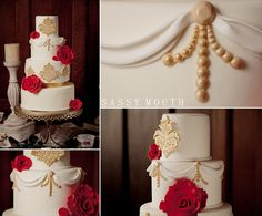 Beauty and the Beast Wedding Cake A little imagination cakes Fairy Tale - Belle Bride - Sassy Mouth Photography