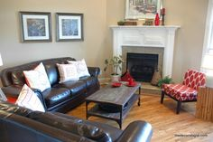 How to Arrange Furniture in a Room with a Corner Fireplace - The Decorologist