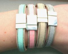 Shades of Spring collection of Milouzzi. Suede bracelets with beautiful magnetic clasp.