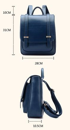Double Buckle Leather Shoulder Bag Backpack - lilyby