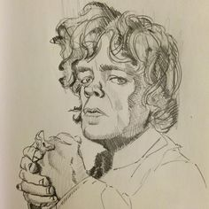 """""""Quick study of Tyrion Lannister from GoT using graphite getting ready to do an ink version. I've noticed that because of the little time I get to draw…"""" by @mmorris_art"""