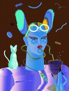 Missy Magazine Cover on Behance Playmate Gallery, Art Design, Graphic Design, Surrealist Collage, 1980s Art, Bizarre Art, Art Et Illustration, Arte Popular, Hippie Art