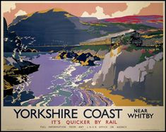 England Yorkshire Whitby LNE Rail Poster Print by BloominLuvly