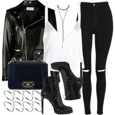 A fashion look from October 2016 featuring Yves Saint Laurent jackets, Topshop jeans and Alaïa ankle booties. Browse and shop related looks.