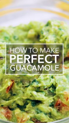 he BEST guacamole EASY to make with ripe avocados salt serrano chiles cilantro and lime Garnish with red radishes or jicama Serve with tortilla chips guacamole simplyrecipes avocados # Guacamole Dip, Guacamole Recipe Easy, How To Make Guacamole, Avocado Recipes, Healthy Recipes, Authentic Guacamole Recipe, Sandwich Recipes, Recipes With Cilantro, Homemade Guacamole Easy