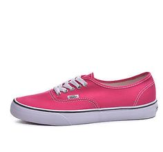 Vans Authentic Bright Rose True White Classic Low Top Shoes